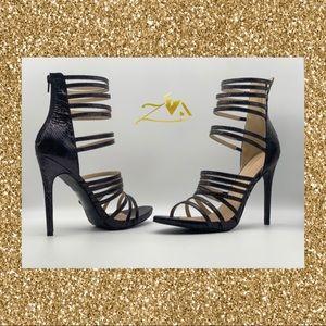Women's Strappy Open Toe Single Sole High Heels